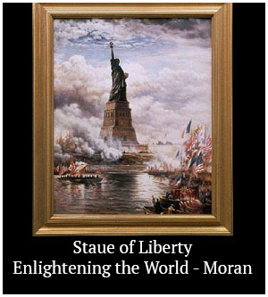 Statue of Liberty Enlightening the World - Moran