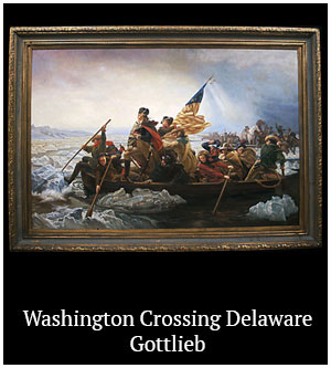Washington Crossing Delaware - Gottlieb