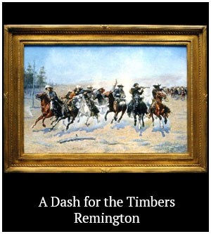 A Dash for the Timbers - Remington