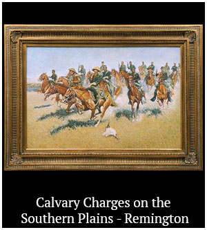 Calvary Charges on the Southern Plains - Remington