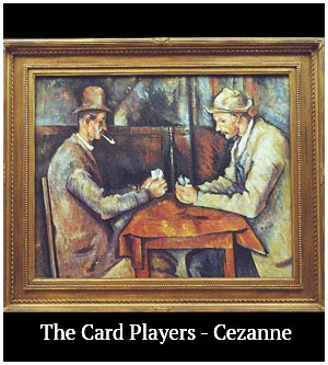 the card players - cezanne
