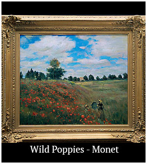 Wild Poppies - Monet