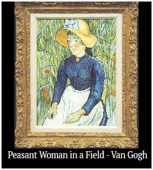 Peasant Woman in a Field - Van Gogh