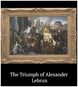 The Triumph of Alexander - Lebrun