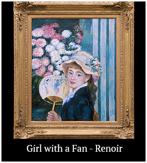 Girl with a Fan - Renoir