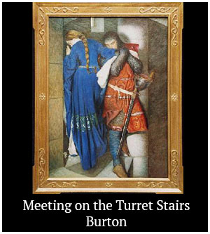 Meeting on the Turret Stairs - Burton